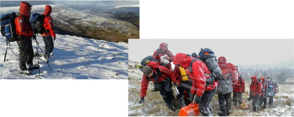 Longton Mountain Rescue in the snow